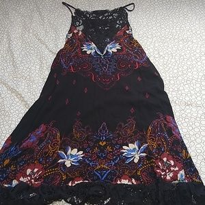 Free people floral lace slip